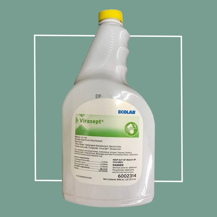ecolab virasept disinfecting cleaner spray
