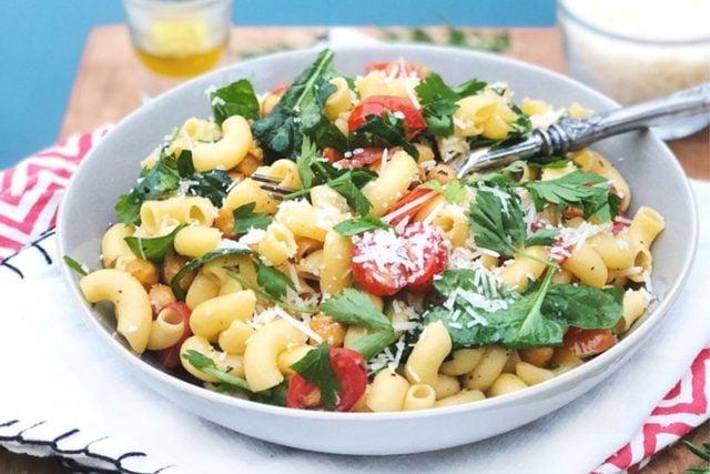 rosemary chickpea pasta