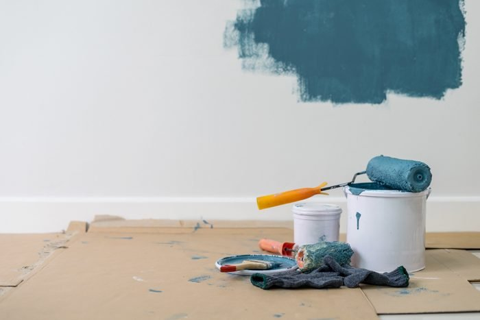painting walls in house