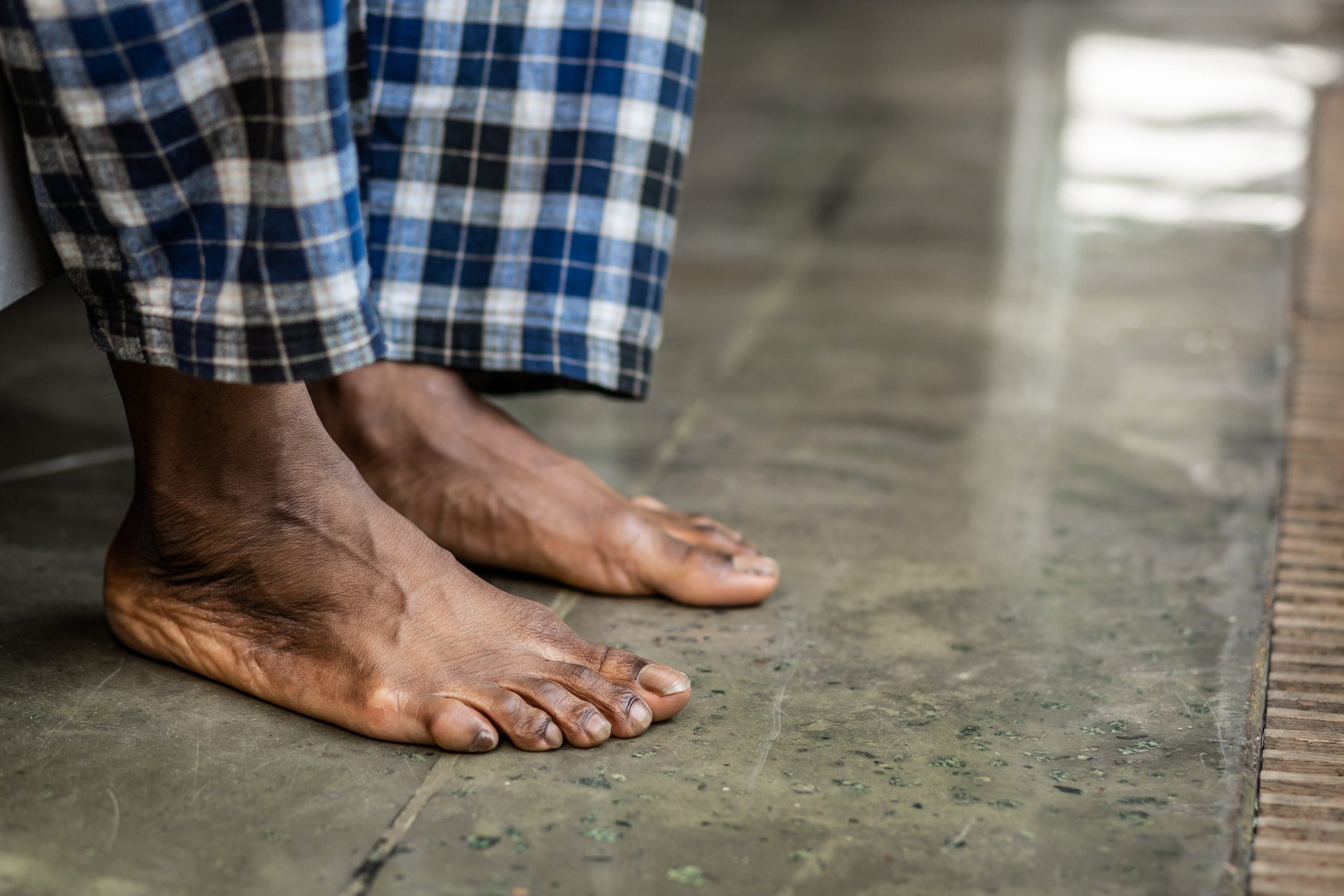 close-up of man's bare feet