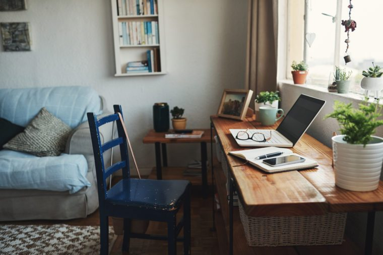 home office desk work space