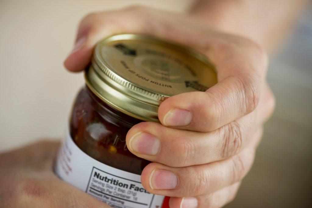 close up of glass jar