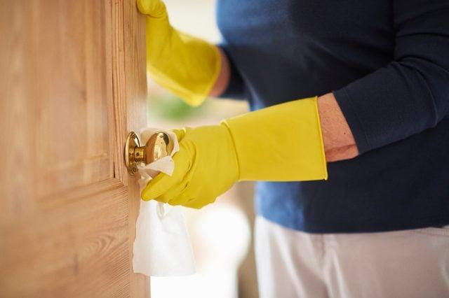 disinfecting doorknobs