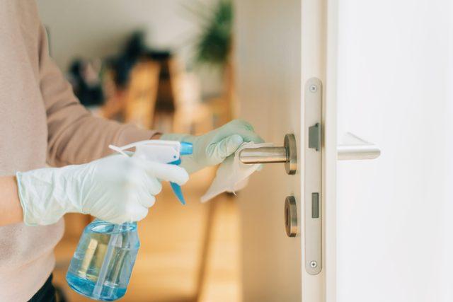 disinfecting home during coronavirus pandemic