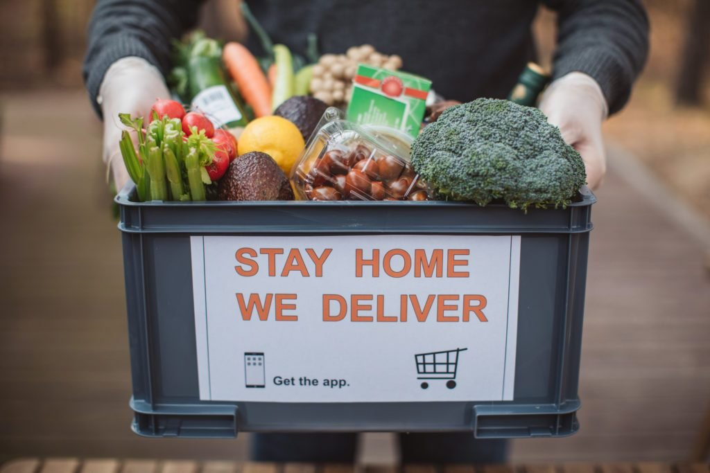 grocery delivery during coronavirus pandemic outbreak