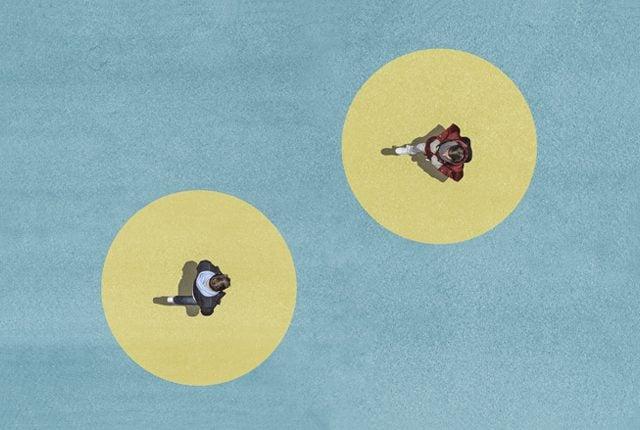 coronavirus spread concept