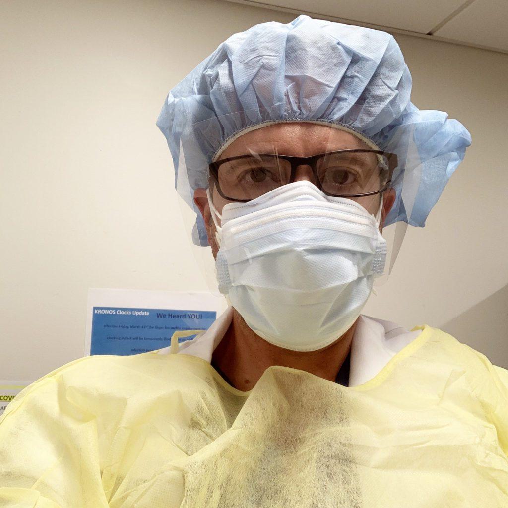 Doctor Jeffrey Zilberstein during coronavirus outbreak