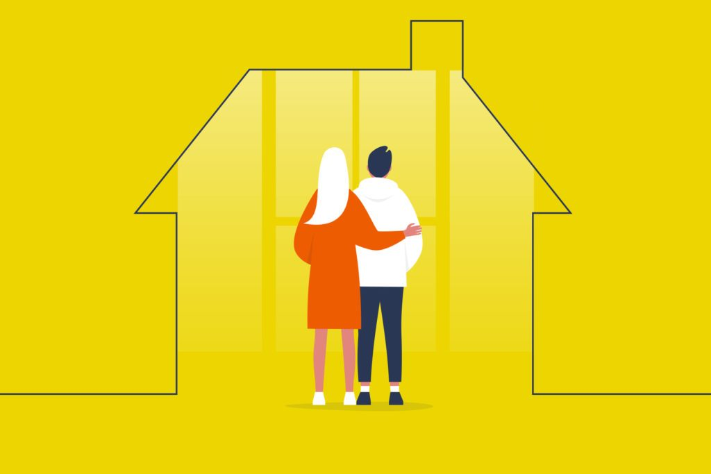 caring for a spouse with depression during quarantine illustration