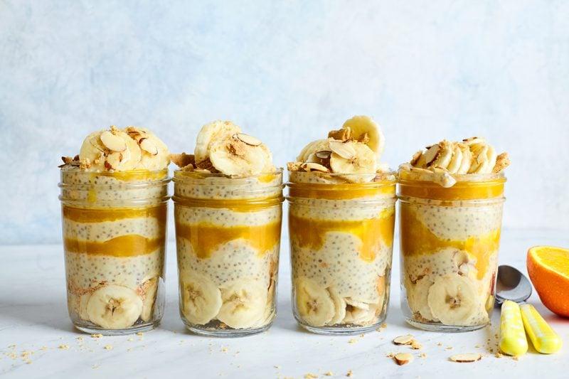 orange cream pie chia seed pudding breakfast
