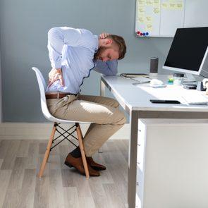 arthritis pain while sitting at desk