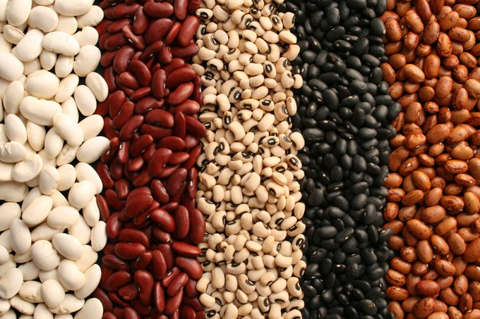 assortment of dried beans full frame