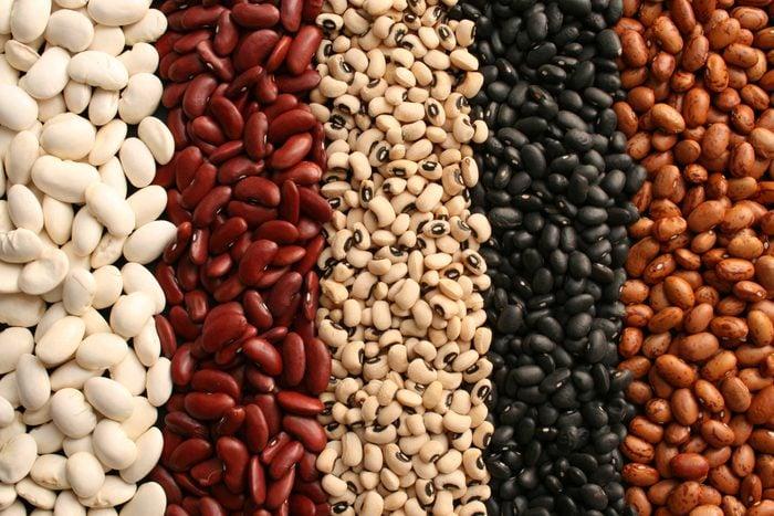 assortment of dried beans full frame