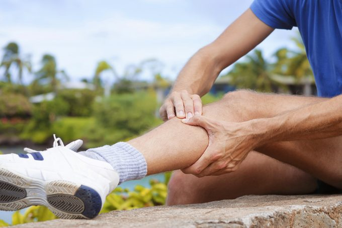 close up of man with shin splints