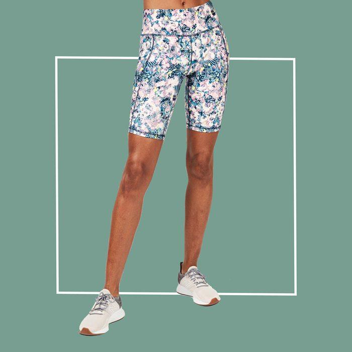 sweaty betty floral biker shorts