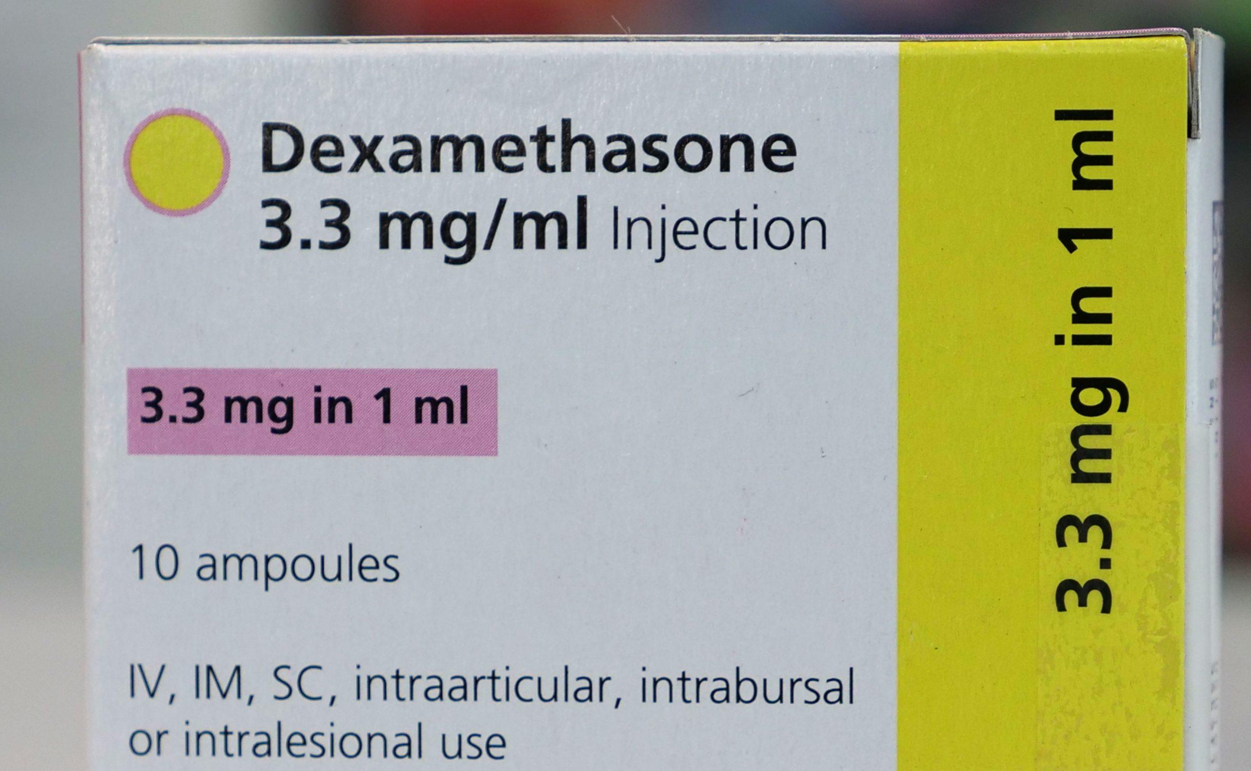 box of dexamethasone drug
