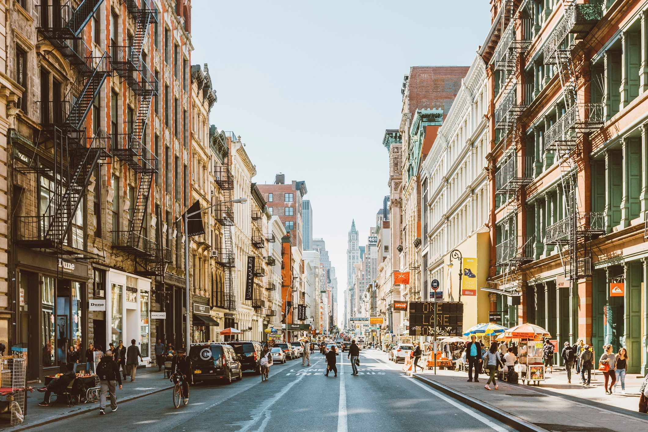 streets of soho, new york city