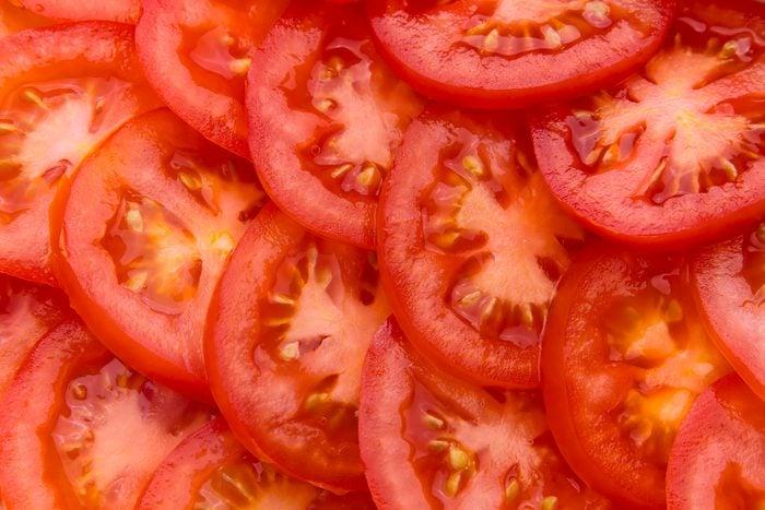 sliced tomatoes full frame