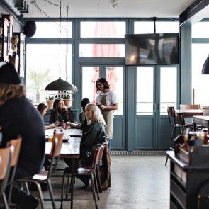 interior of small restaurant
