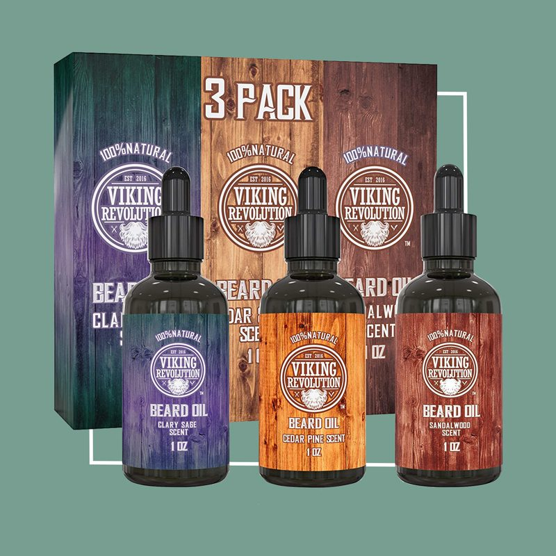 beard oil 3 pack set