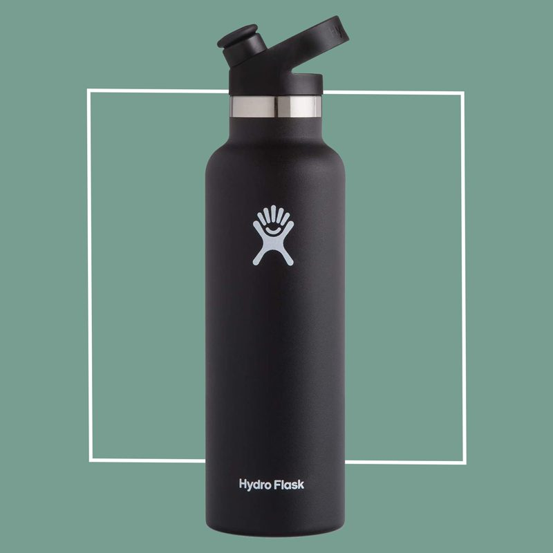 black hydroflask water bottle