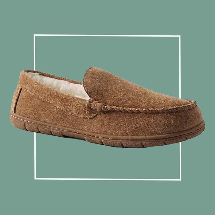lands end men's slipper