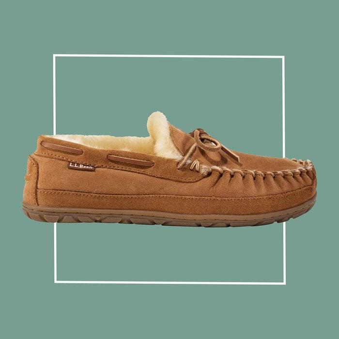L.L. Bean men's moccasin slipper