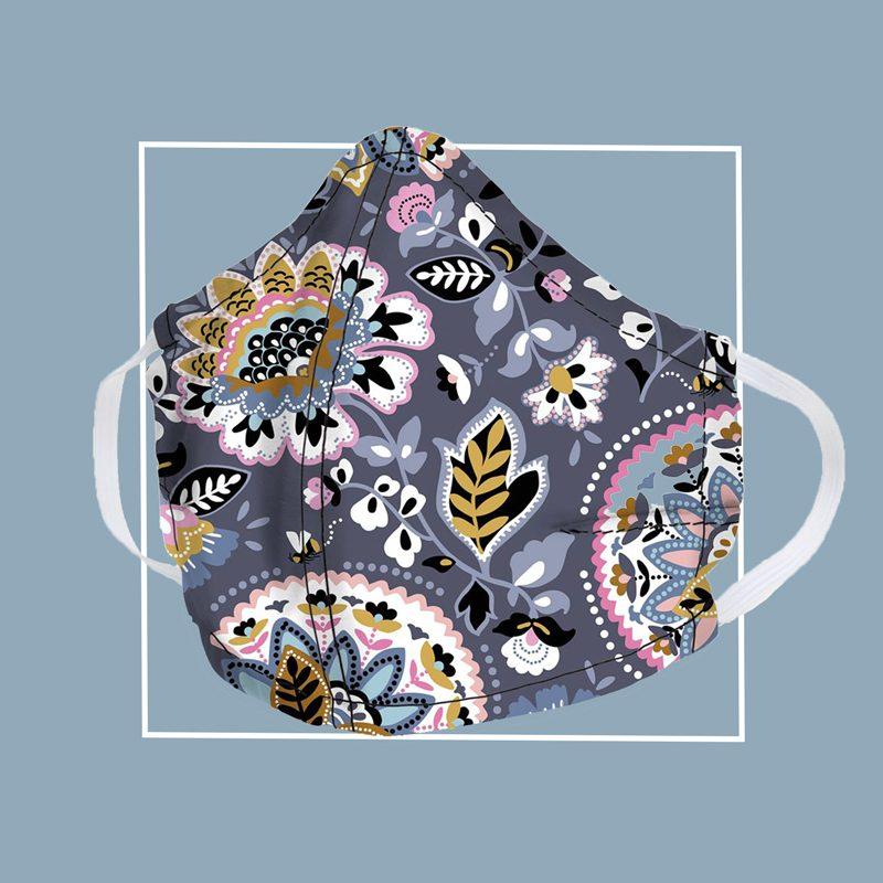 vera bradley floral pattern face mask