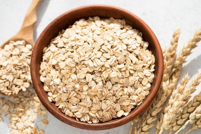 overhead shot of oats