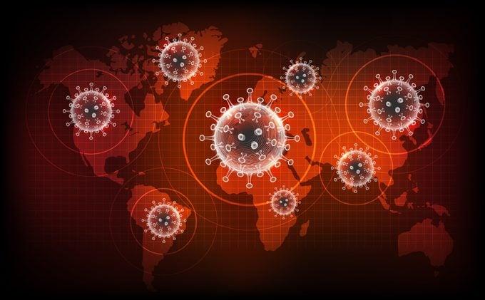 coronavirus pandemic concept