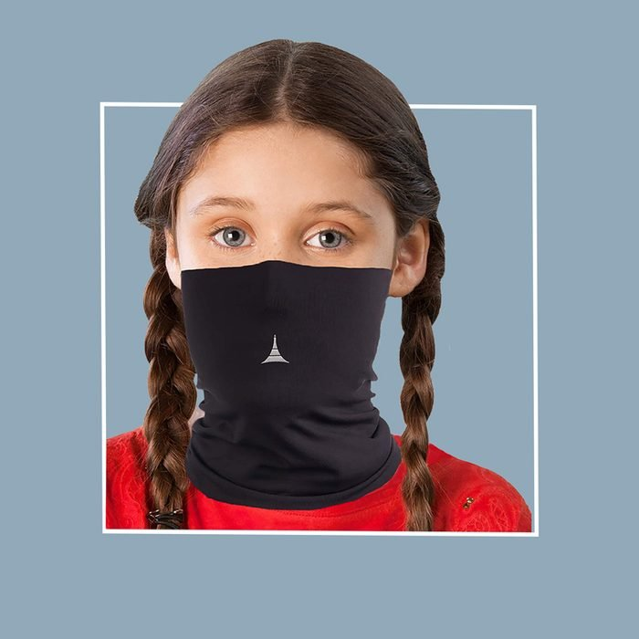 Kids filtered neck gaiter: French Fitness Revolution