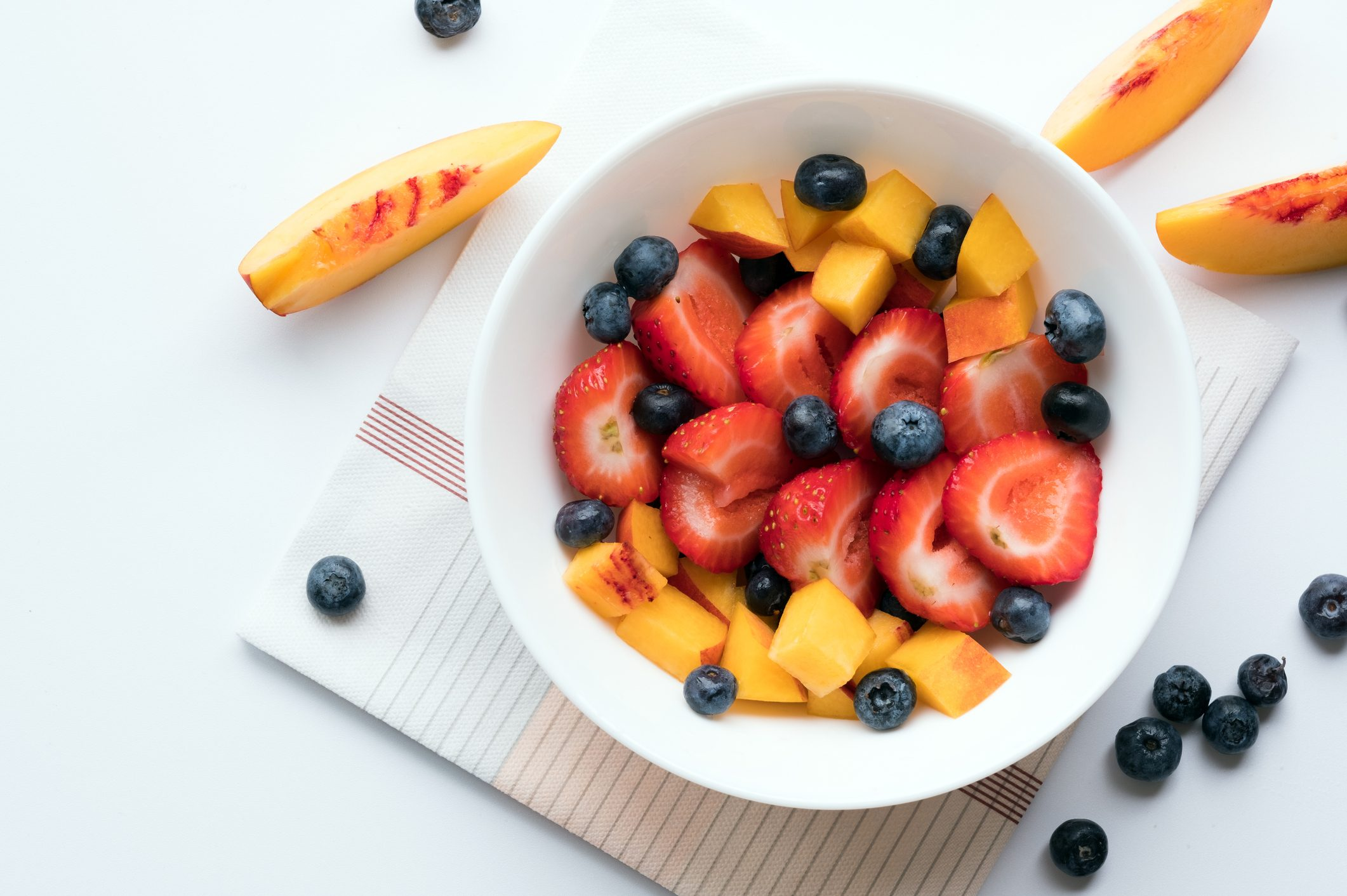 Bowl of healthy fresh berries fruit salad