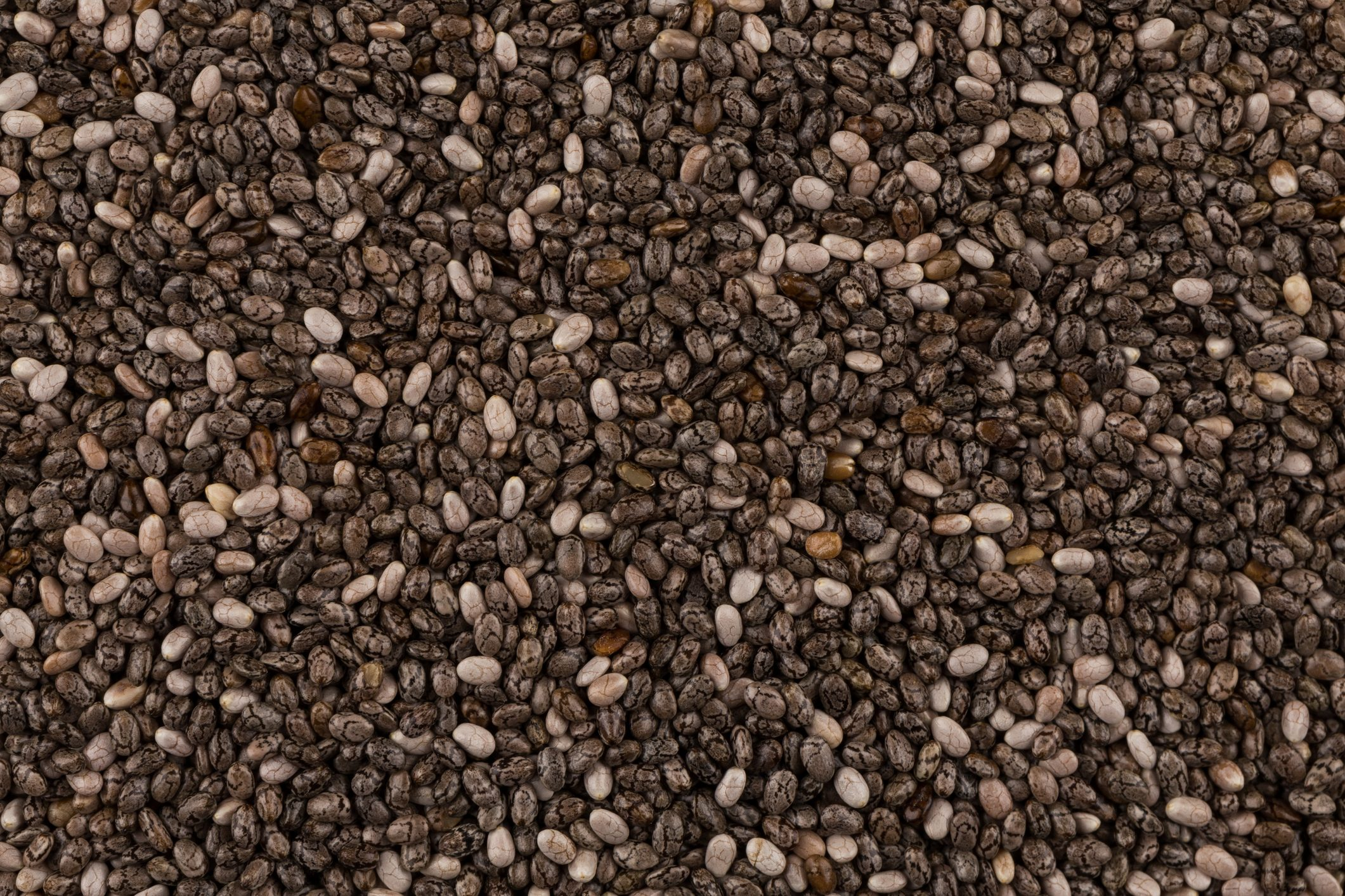 Top view on chia seeds. Can be used for background