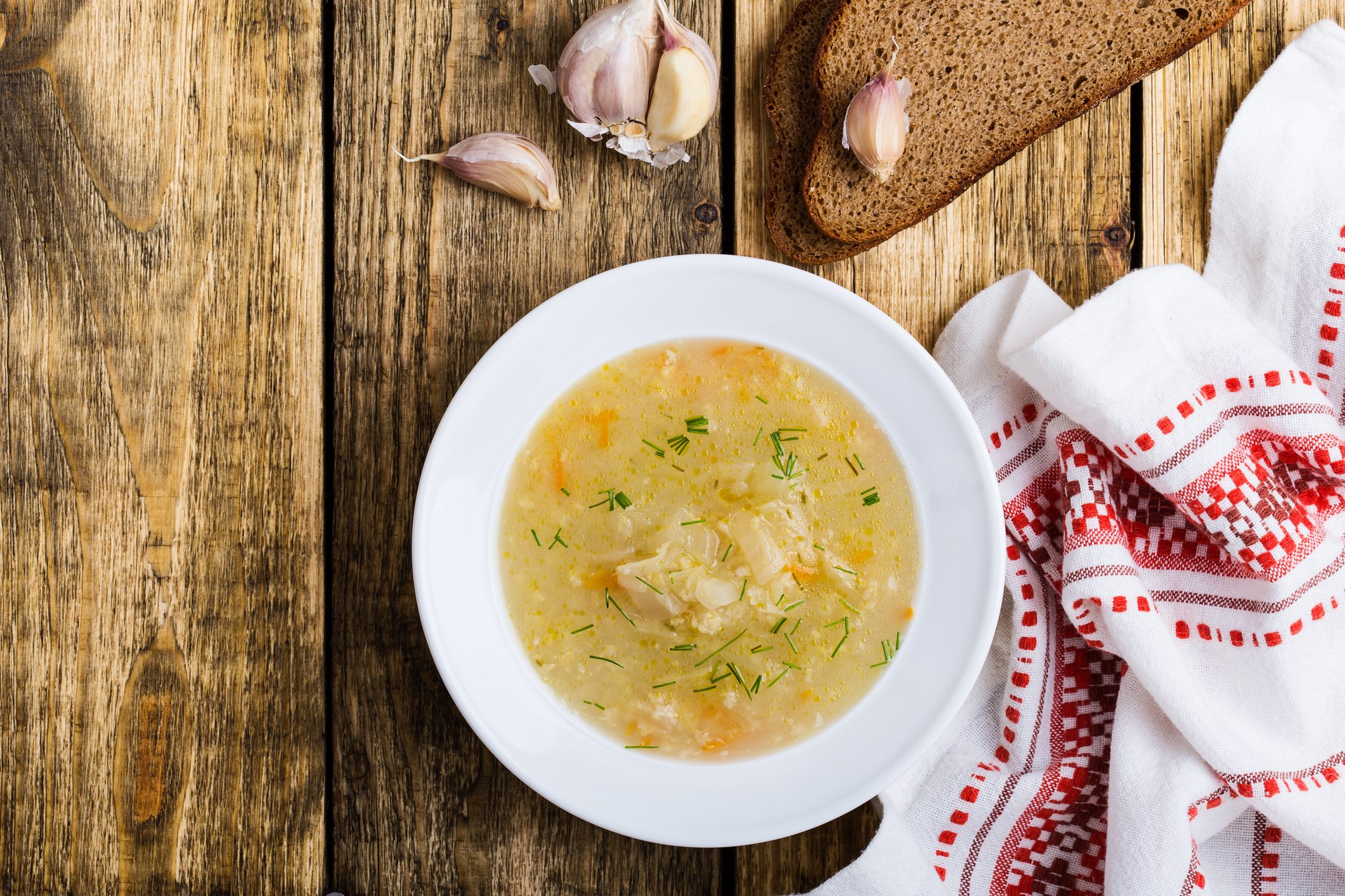 Kapusniak, traditional Ukrainian sauerkraut soup