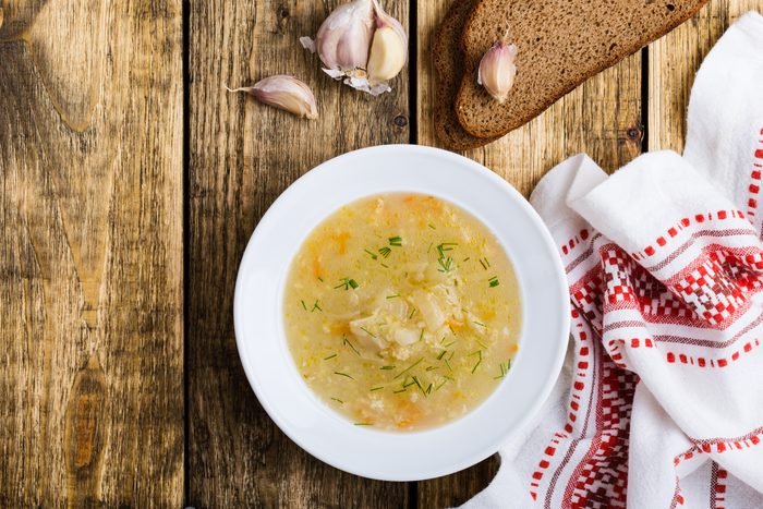 Kapusniak, traditional Ukrainian sauerkraut soup