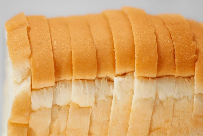 close up of sliced white bread