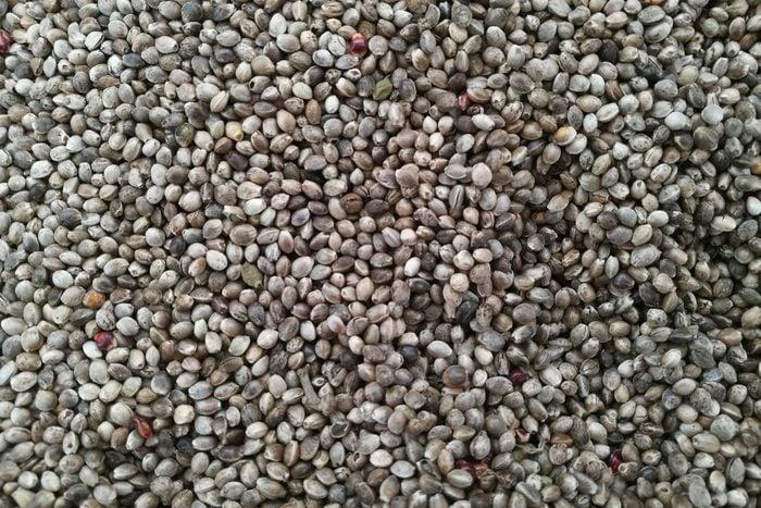 Full Frame Shot Of Hemp Seeds At Market Stall