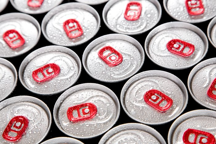drink cans full frame
