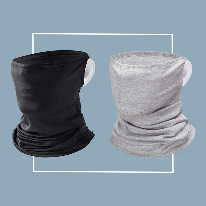 Ear slot filtered neck gaiter: Happiere
