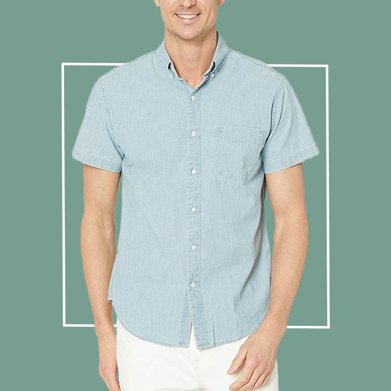 J. Crew Short Sleeve Chambray