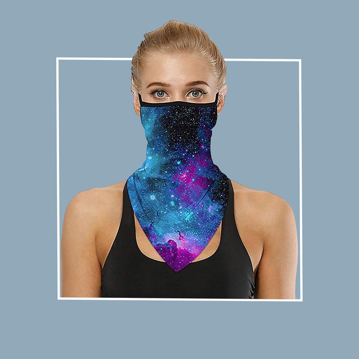 Ear loop neck filtered neck gaiter: Kimjun