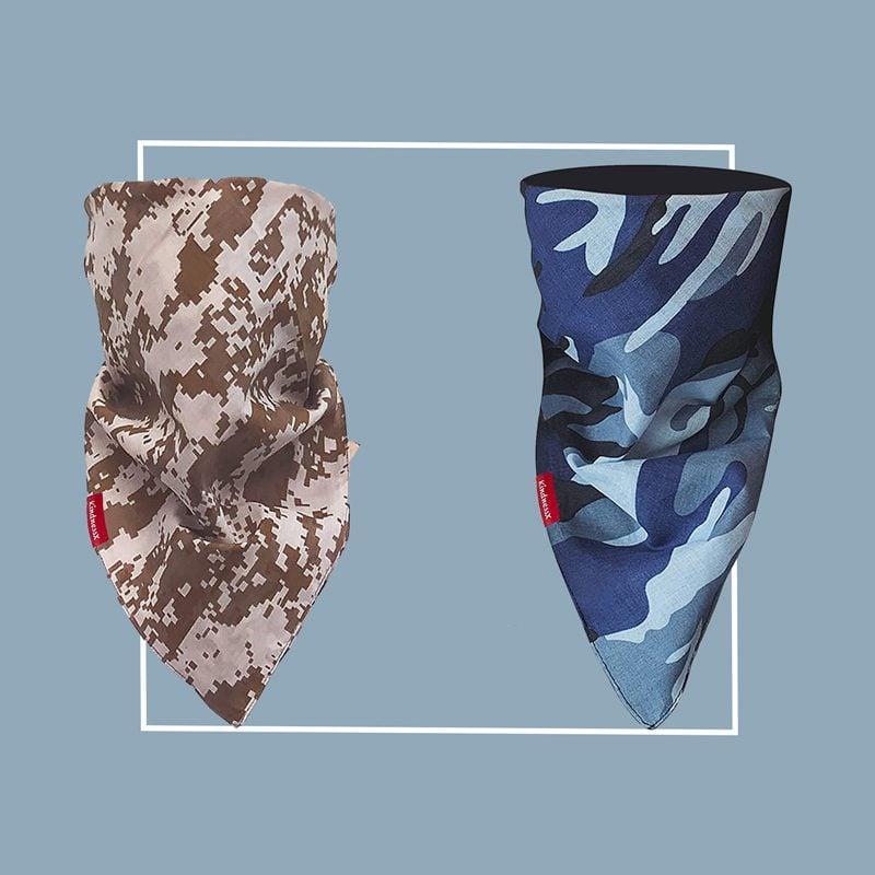 Filtered bandana-style neck gaiter: KindnessX