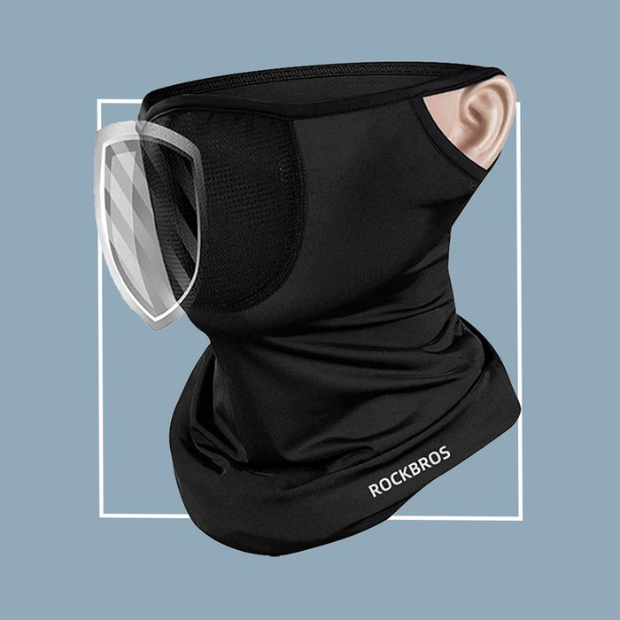 Ear loop filtered neck gaiter: Yarrashop