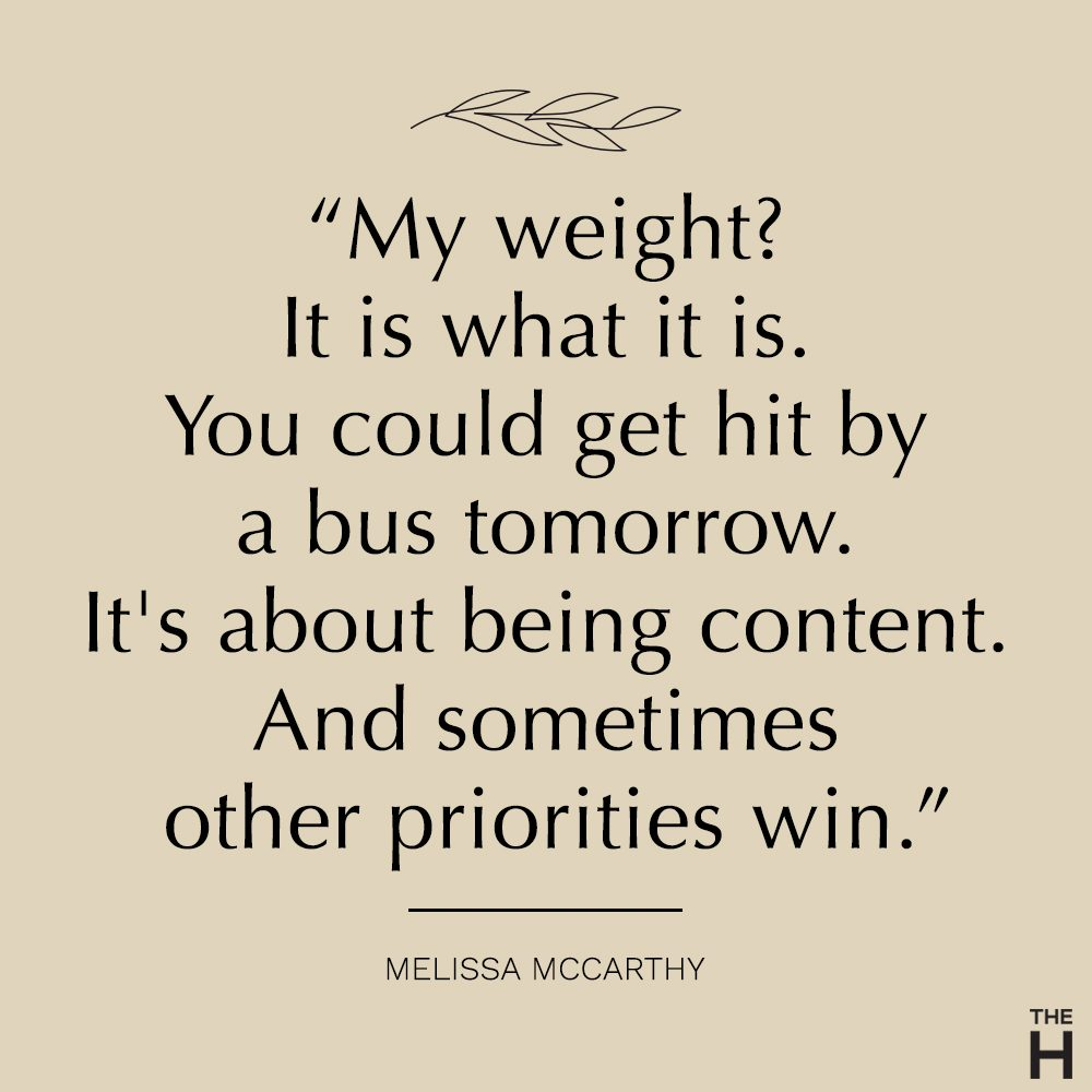 Melissa McCarthy body positive quote