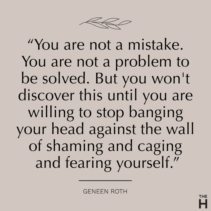 geneen roth body positive quote