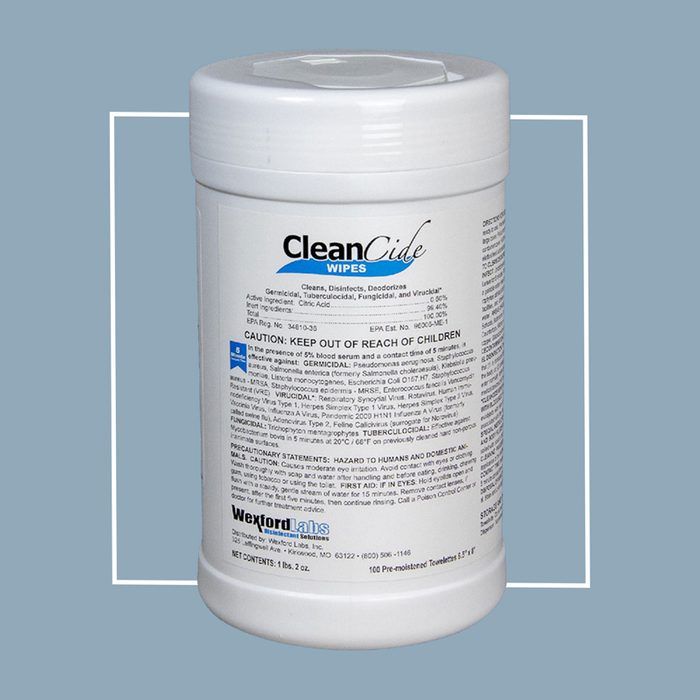 CleanCide Cleansing Wipes (Wexford Labs Inc CleanCide Wipes)