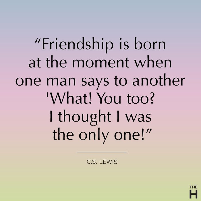 C.S. lewis funny friendship quote