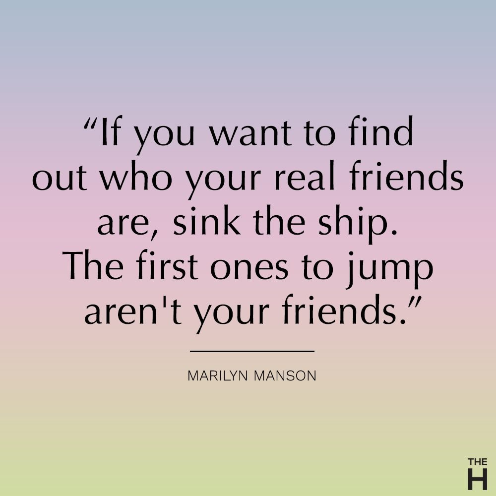 marilyn manson funny friendship quote