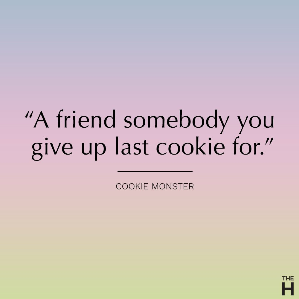 cookie monster funny friendship quote