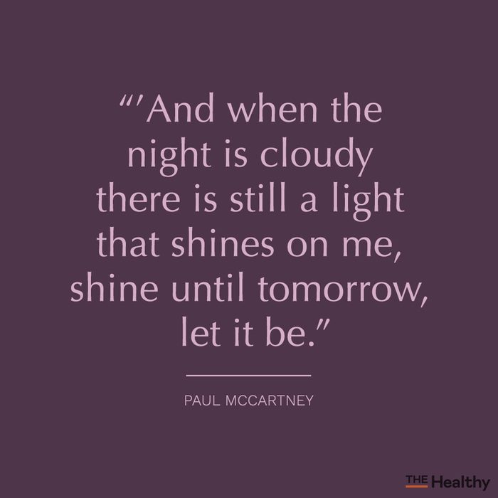 let it be the beatles paul mccartney song lyric quote