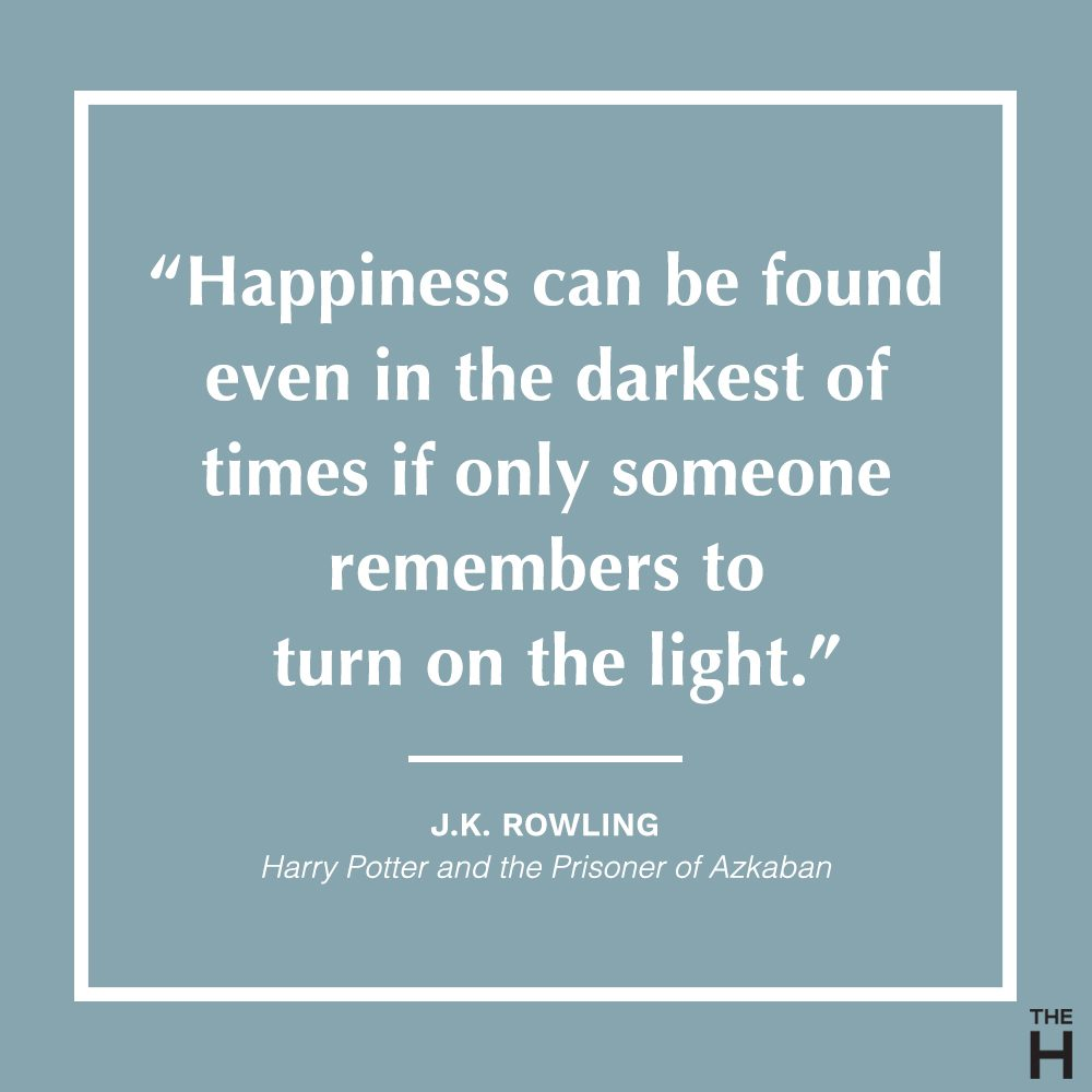 J.K. Rowling Positive Thinking Quote from Harry Potter